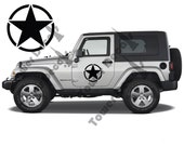 16″ Army Stars Fits Full Doors for Jeep Wranglers, Rubicons, Saharas, Cherokees - 2 Decals