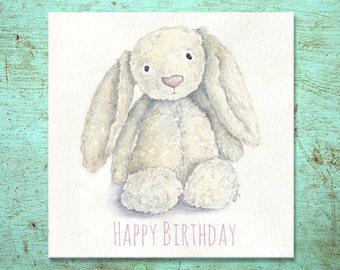 Jellycat Bunny- Birthday Card