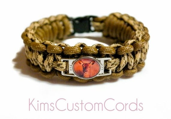 custom paracord bracelet wildlife deer by kimscustomcords