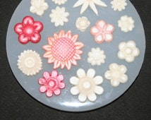 Tiny Flowers Mould.  9cm Food & Heat Safe Silicone.