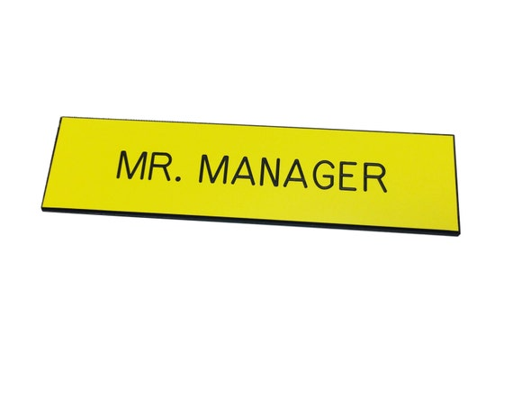Name Tag mr Manager Badge