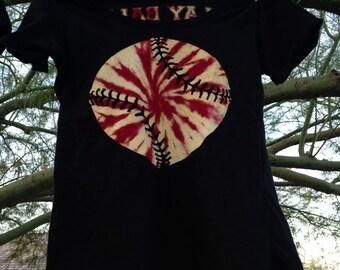 Play Ball! Custom Tie Dye Baseball Shirt