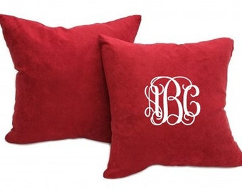 Monogrammed Velvet Pillow. Personalized Home Decor. Embroidered Pillow. Decorative Pillow Cover. Personalized Pillow. Personalized Gift.