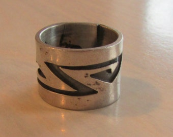 "1/2"" Wide Sterling Silver Band Ring  Size 5 1/2"