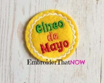 Cinco De Mayo Digital Feltie Embroidery Design File