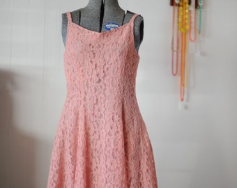 Rose Betty Pink Lace Party Dress