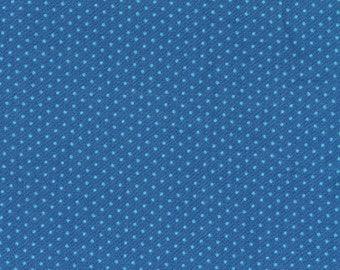 Aqua Dots on Royal Blue Cotton Fabric - Quilting Treasures - 1 3/8 Yard