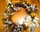 Happy Summer Yellow and white wreath