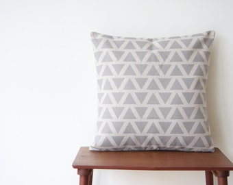 """18""""x18"""" Decorative Pillow Cover Geometric Pattern Grey Triangles Cushion Cover Throw Cushion Cover #166"""