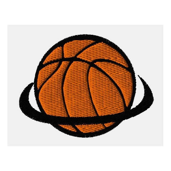 Basketball swish machine embroidery design