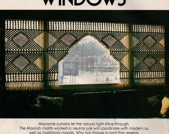 Wonderful Macrame Window Curtains
