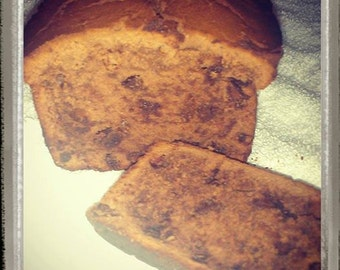Chocolate, Chocolate Chip Bread is moist from sour cream and has a velvety chocolate texture with chocolate chips swirled throughout
