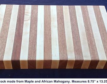 Maple and Mahogany Cutting Block
