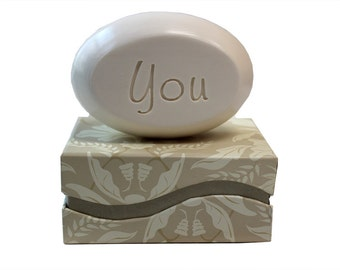 Soap Sentiments - Personalized Scented Soap Bar Engraved with You
