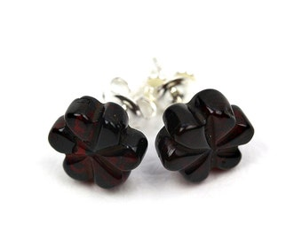 100 Natural Baltic Amber Earrings Quot Flower Quot Do 222