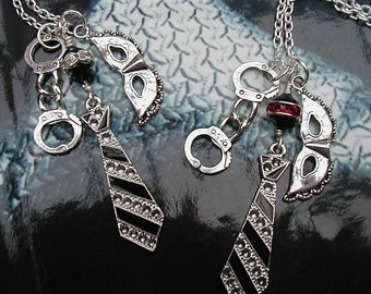Fifty Shades of Grey Christian Greys Tie Charm Necklace or Bag Charm