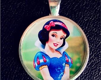 Disney Princess Snow White necklace pendant Inspired Pendant charm cabochon for Chunky Bubblegum necklaces