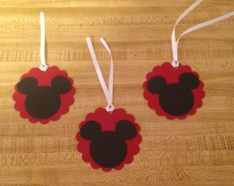 Set of 12 Mickey Mouse Tags