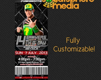John Cena Birthday Invitation Ticket