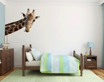 Giraffe Wall Decal Kids Wall Graphic Bedroom Playroom Nursery Wall Sticker