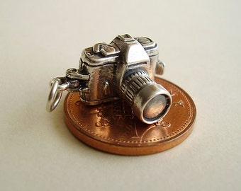 Sterling Silver Opening Camera - Loving Couple Sterling Silver Charm