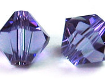 Swarovski 4mm Bicone -Tanzanite - Pack 20
