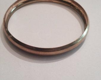Vintage Brass Bangle Bracelet Costume Jewelry