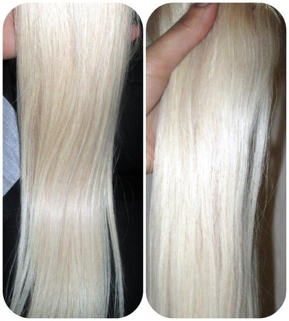 Russian European 8a Remy 60 Colour 60 White Blonde Hair