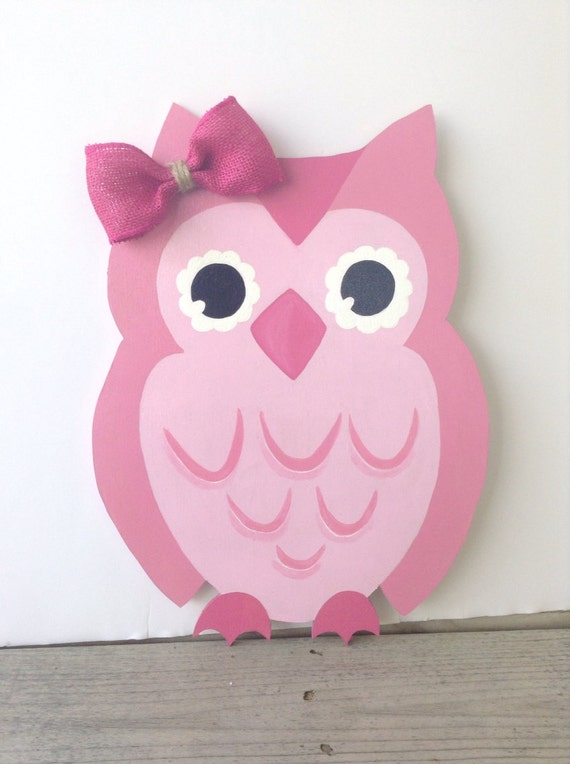 Owl door decoration owl welcome sign nursery room by monilulis for Baby owl decoration