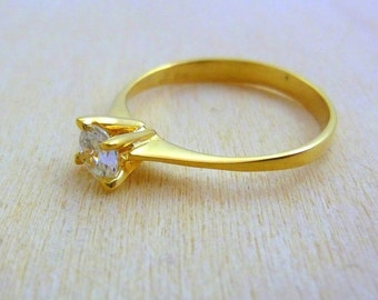 Birthstone ring -gold filled swarovski crystal jewelry, simple ring ,delicate ring gold rings for women birthstone ring