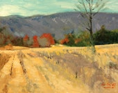 Original After Harvest 144 Original oil painting landscape painting by TomFisherArt landscape art