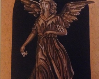 """Print of Original Oil Painting """"Angel of the Lily"""""""