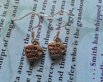 Heart shaped Charm Earrings.