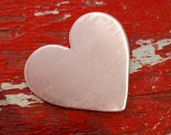Stamping Blanks - LaRgE Copper HEART - 18 gauge - Qty 3  De-Bured