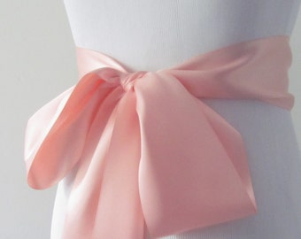 Moonstone Ribbon Sash/ Double Faced Ribbon Sash/ Bridal Sash/ Bridal Ribbon/ Moonstone