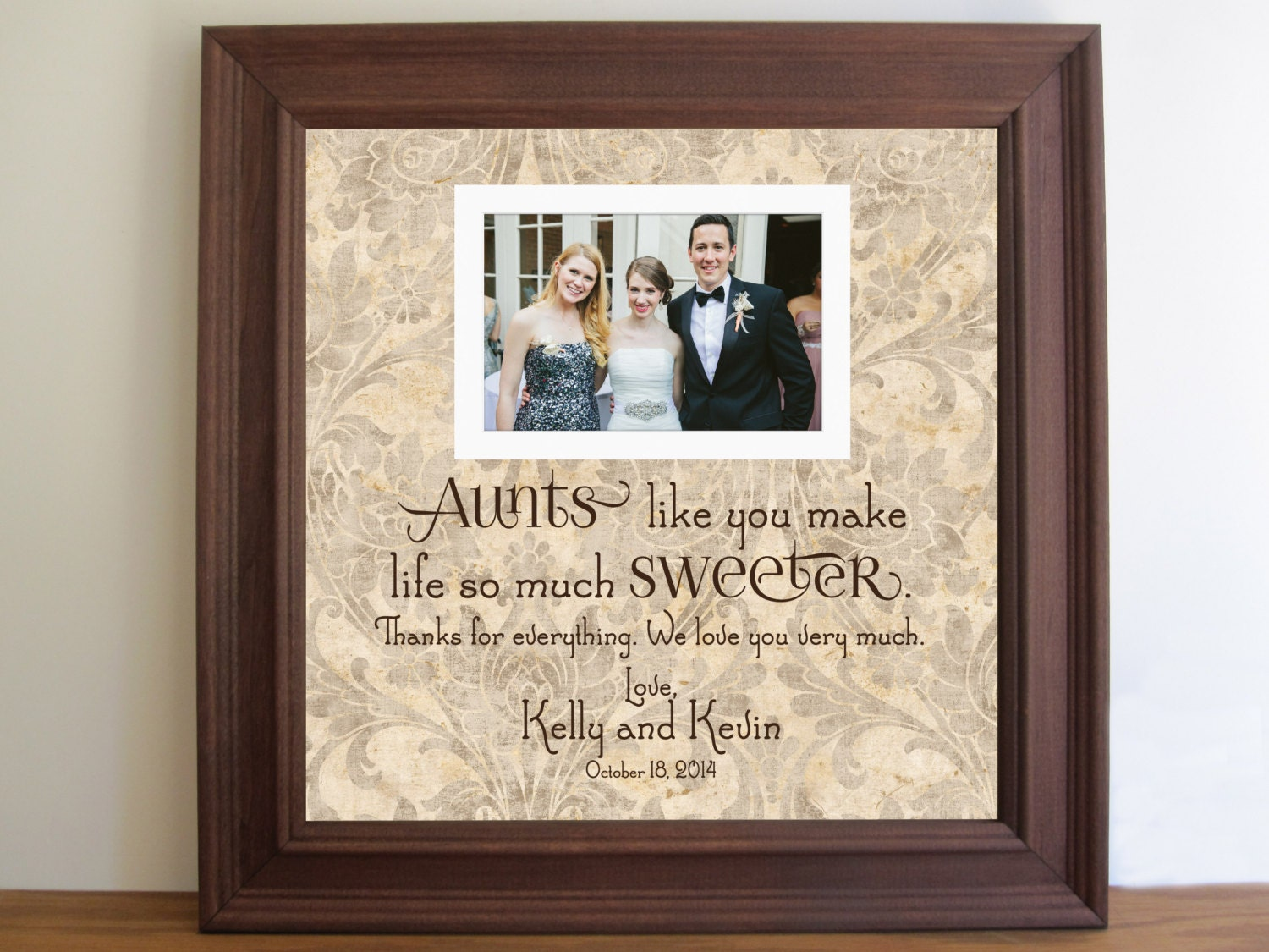 Ideas Wedding Gift Frames aunt picture frame etsy aunts like you gift ...