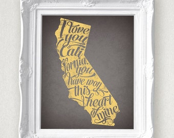 California State Print 8 x 10