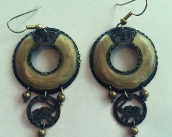 dangle copper earrings