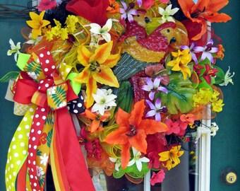 Tropical Summer Wreath