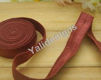 10 Yards 3/8''  Brown Elastic Headband Baby Hairbow Soft Foldover Elastic Binding Webbing Tape Craft Sewing  - YTA13