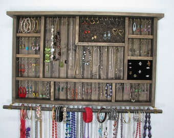 Wall Hanging Jewelry Organizer large dorm room jewelry organizer