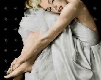 Marilyn Monroe  Hollywood Movie Star Fabric Art Quilt  Block MM442- FREE SHIPPING