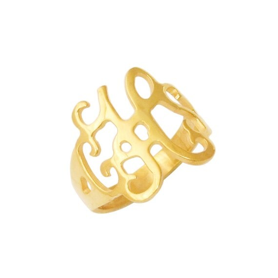 wholesale monogram cut out ring monogram by