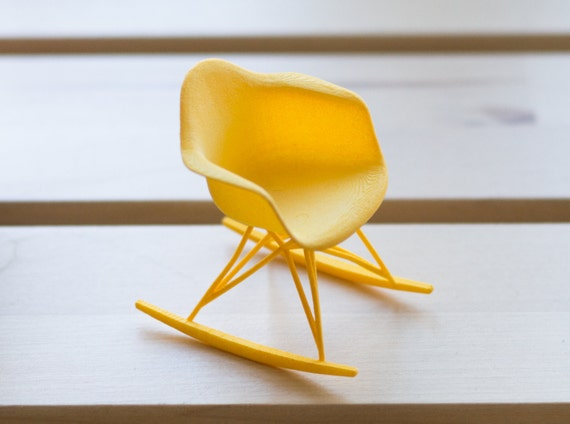 Designer chair miniature rocker for Mini designer chairs