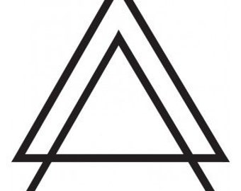 Double Triangle - Temporary tattoo