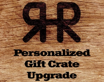 Personalized Wood Burning into Ranch House Rooster Gift Crates