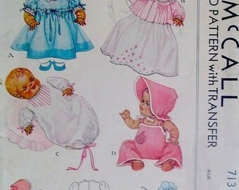 "11"" Dy Dee Baby Doll Clothes Pattern"