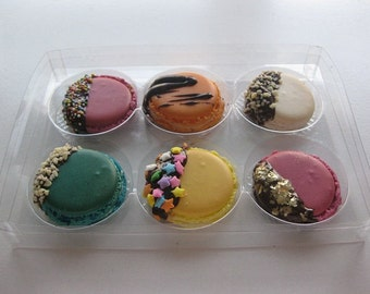 French macarons, 6 assorted macarons, birthday macarons, French confections, ottawa macarons, order macarons online, birthday gift