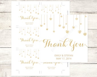 white and gold wedding custom favor tags white and gold glitter hearts wedding thank you cards white and gold wedding custom favour tags