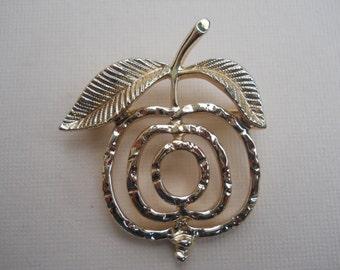 Sarah Coventry Brooch, Sarah Coventry Pin, Fruit Pin, Gold Pin